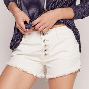 FREE PEOPLE Runaway Slouch Distressed Shorts